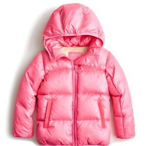 Crewcuts Pink Hooded Puffer Coat